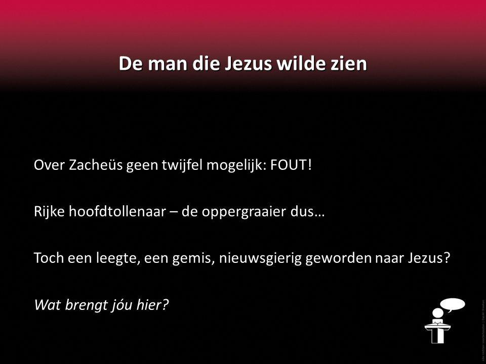 De man die Jezus wilde zien