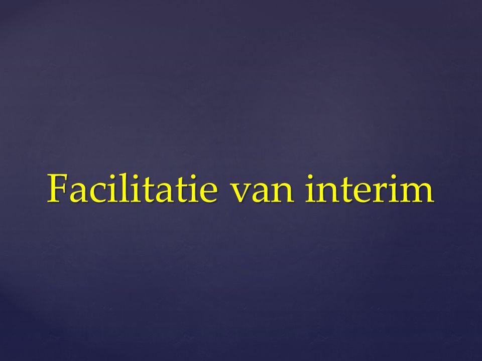 Facilitatie van interim
