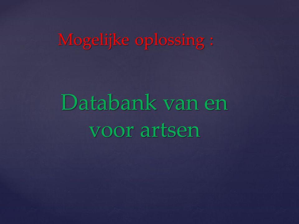 Databank van en voor artsen
