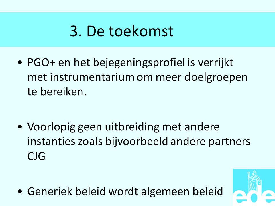 3. De toekomst PGO+ en het bejegeningsprofiel is verrijkt met instrumentarium om meer doelgroepen te bereiken.