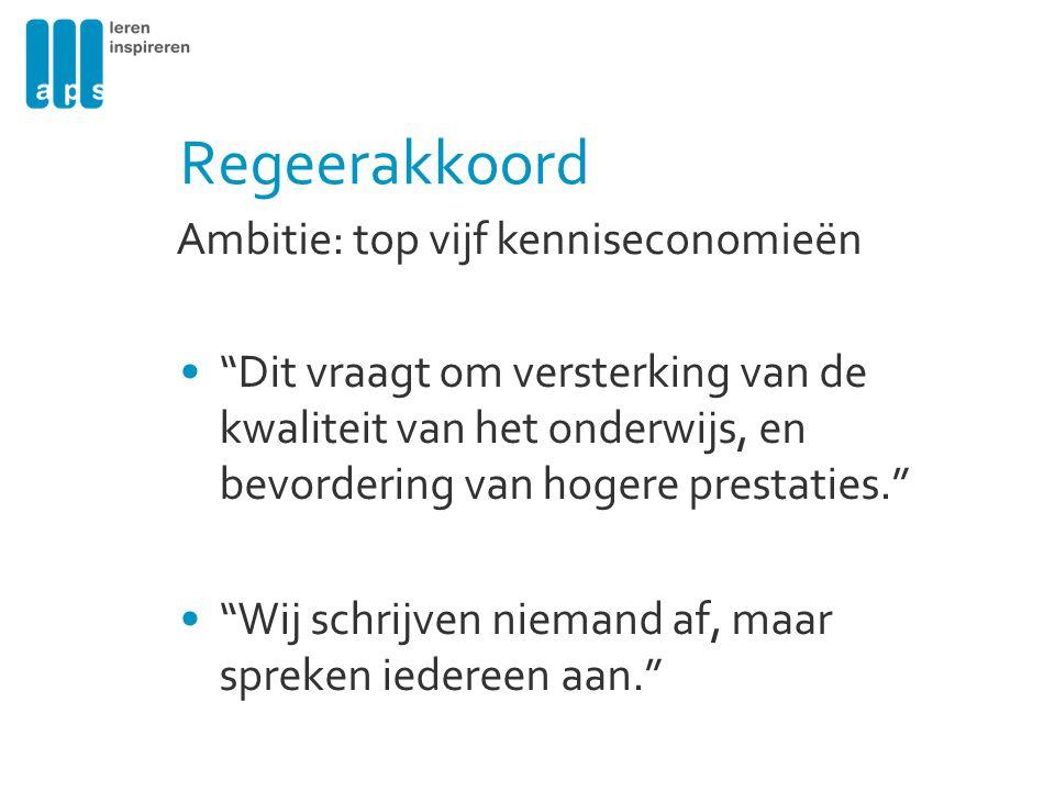 Regeerakkoord Ambitie: top vijf kenniseconomieën