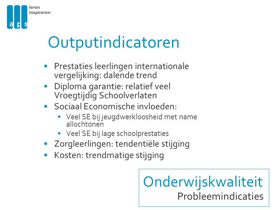 Outputindicatoren Onderwijskwaliteit Probleemindicaties