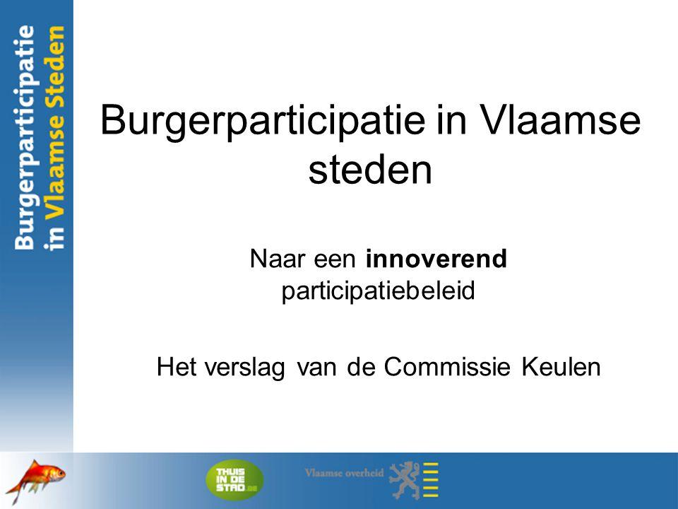 Burgerparticipatie in Vlaamse steden