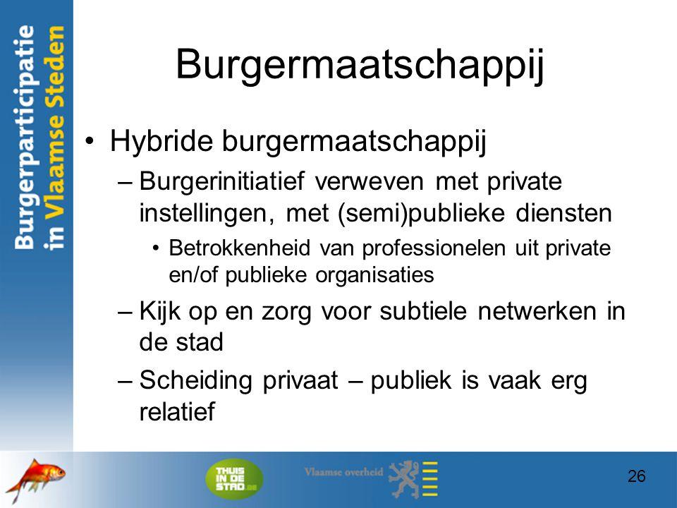 Burgermaatschappij Hybride burgermaatschappij