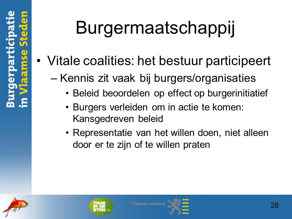 Burgermaatschappij Vitale coalities: het bestuur participeert