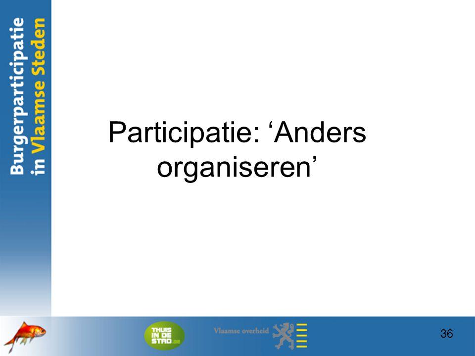 Participatie: 'Anders organiseren'