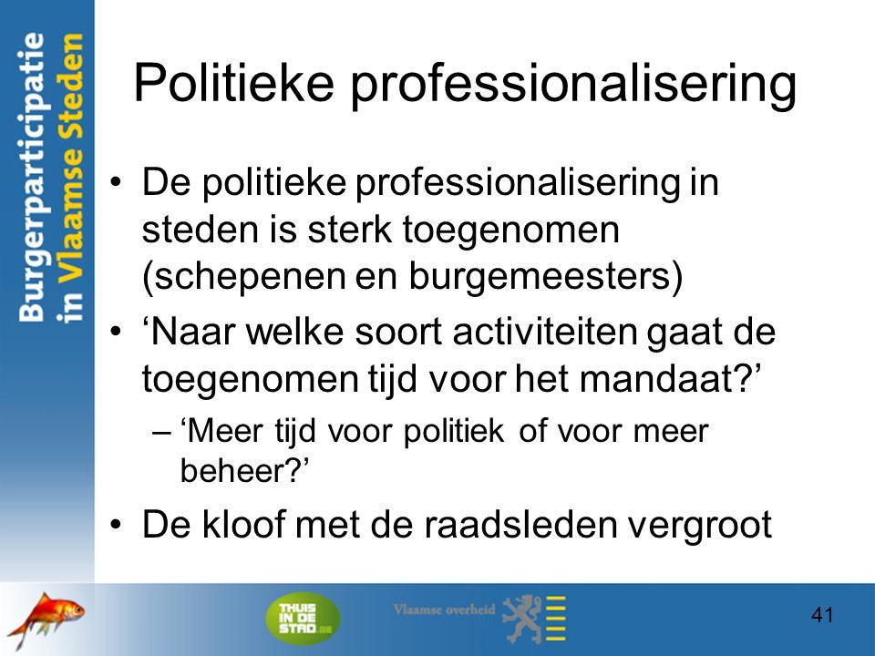 Politieke professionalisering