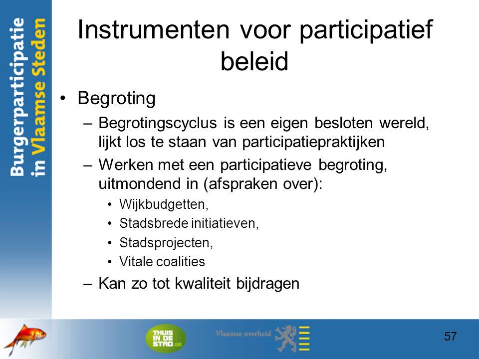 Instrumenten voor participatief beleid