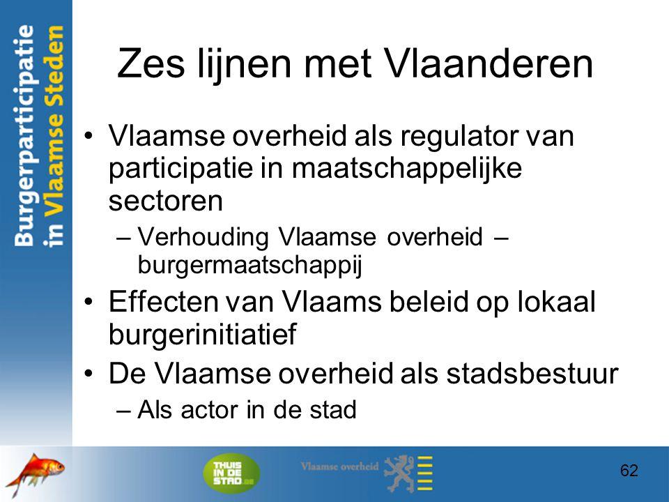 Zes lijnen met Vlaanderen