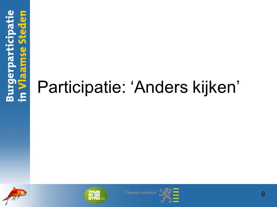 Participatie: 'Anders kijken'
