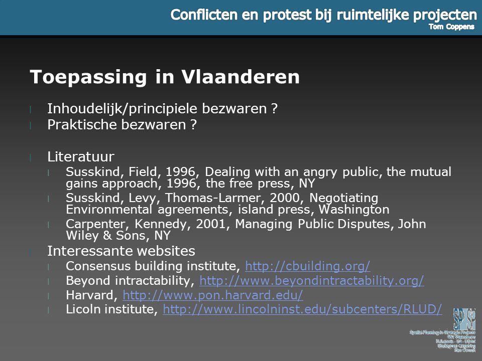Toepassing in Vlaanderen