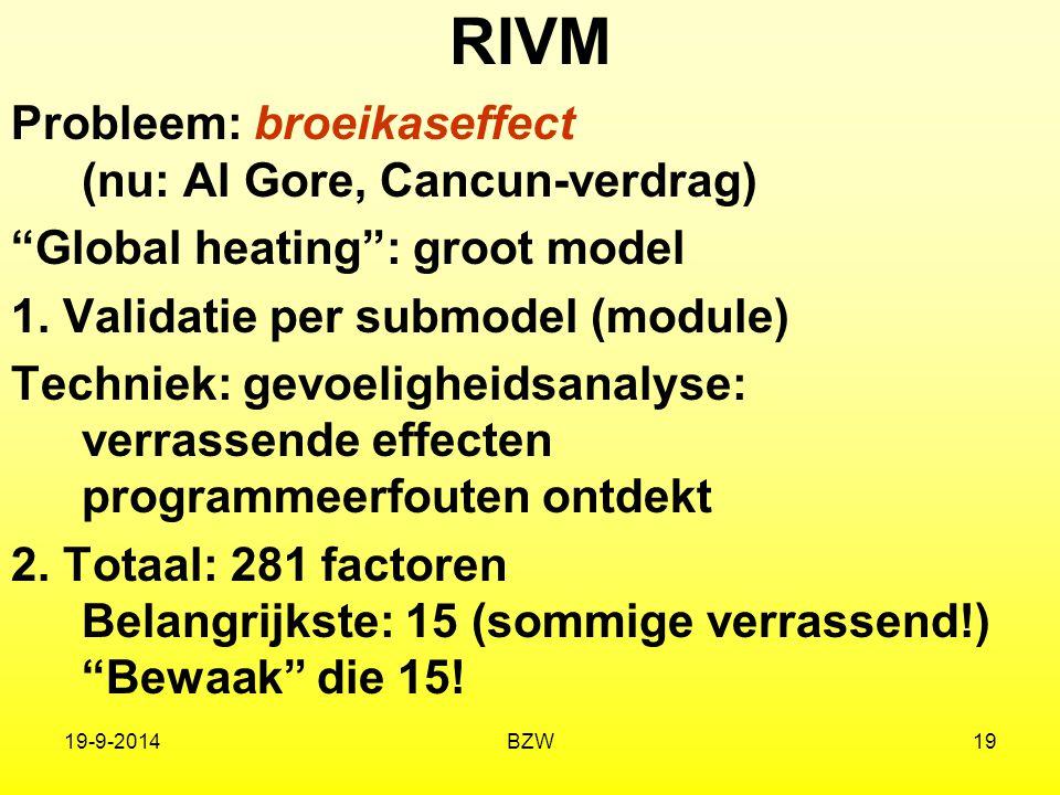 RIVM Probleem: broeikaseffect (nu: Al Gore, Cancun-verdrag)