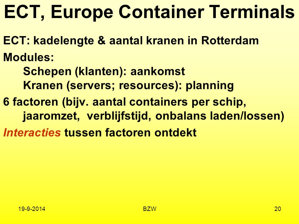 ECT, Europe Container Terminals