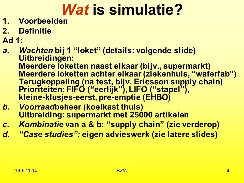 Wat is simulatie Dit is een voorbeeld Voorbeelden Definitie Ad 1: