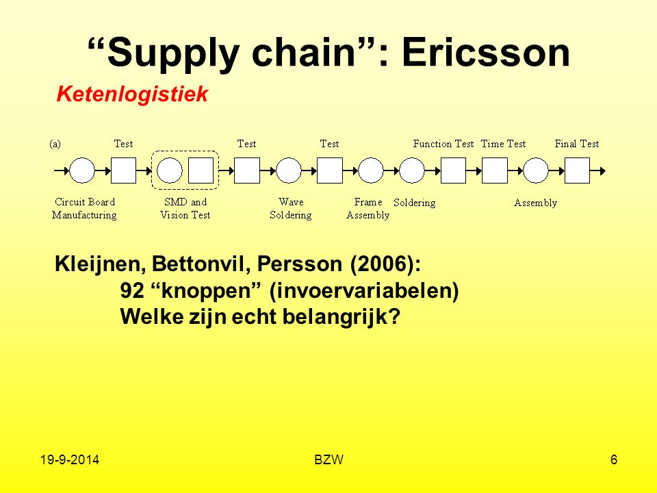 Supply chain : Ericsson