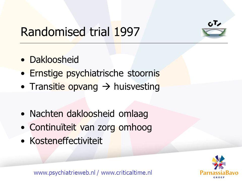 Randomised trial 1997 Dakloosheid Ernstige psychiatrische stoornis