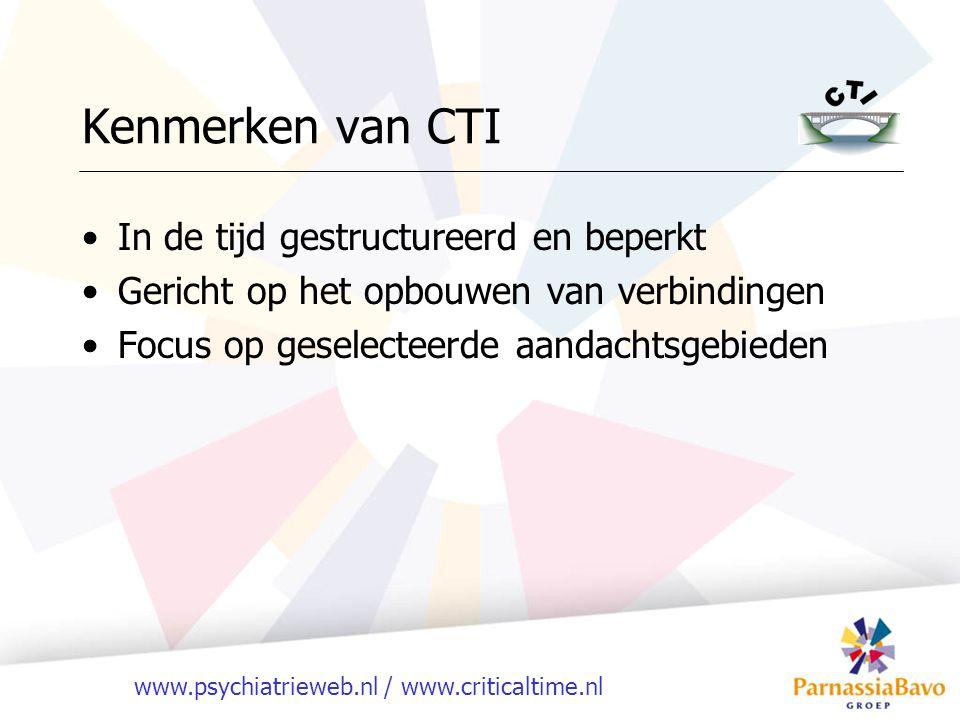 Kenmerken van CTI In de tijd gestructureerd en beperkt