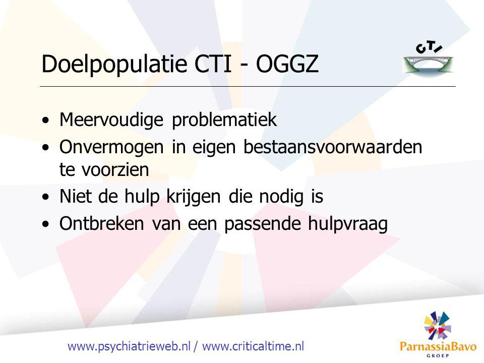 Doelpopulatie CTI - OGGZ