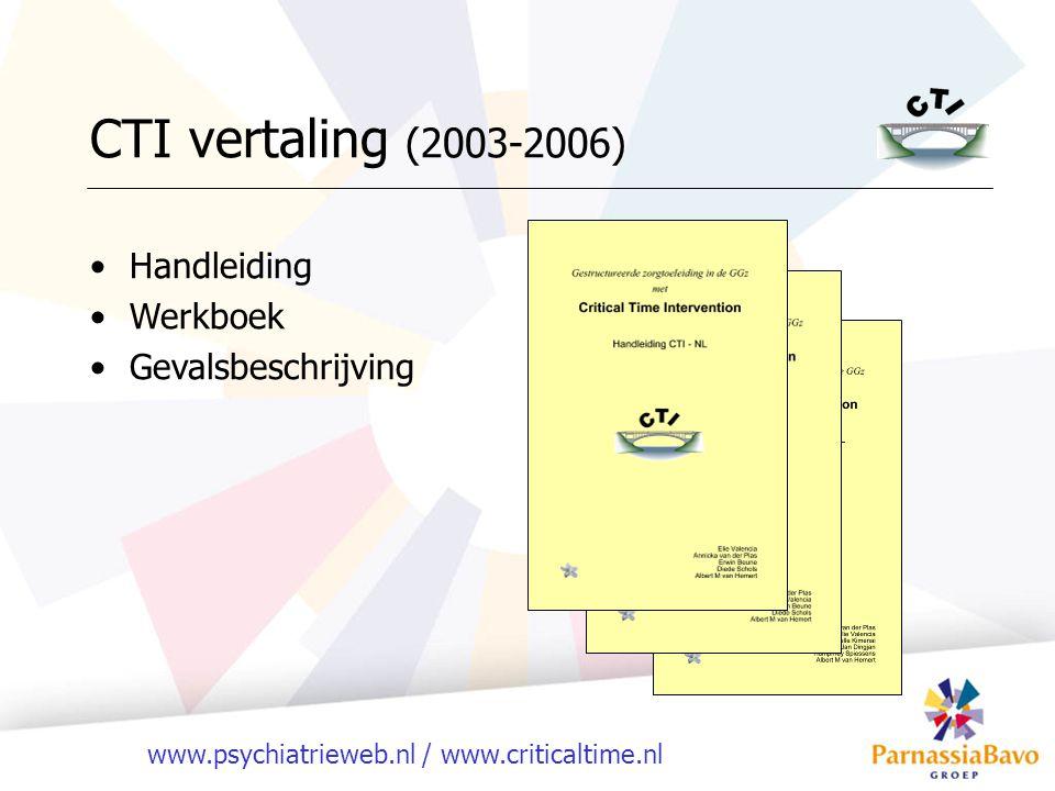 CTI vertaling (2003-2006) Handleiding Werkboek Gevalsbeschrijving