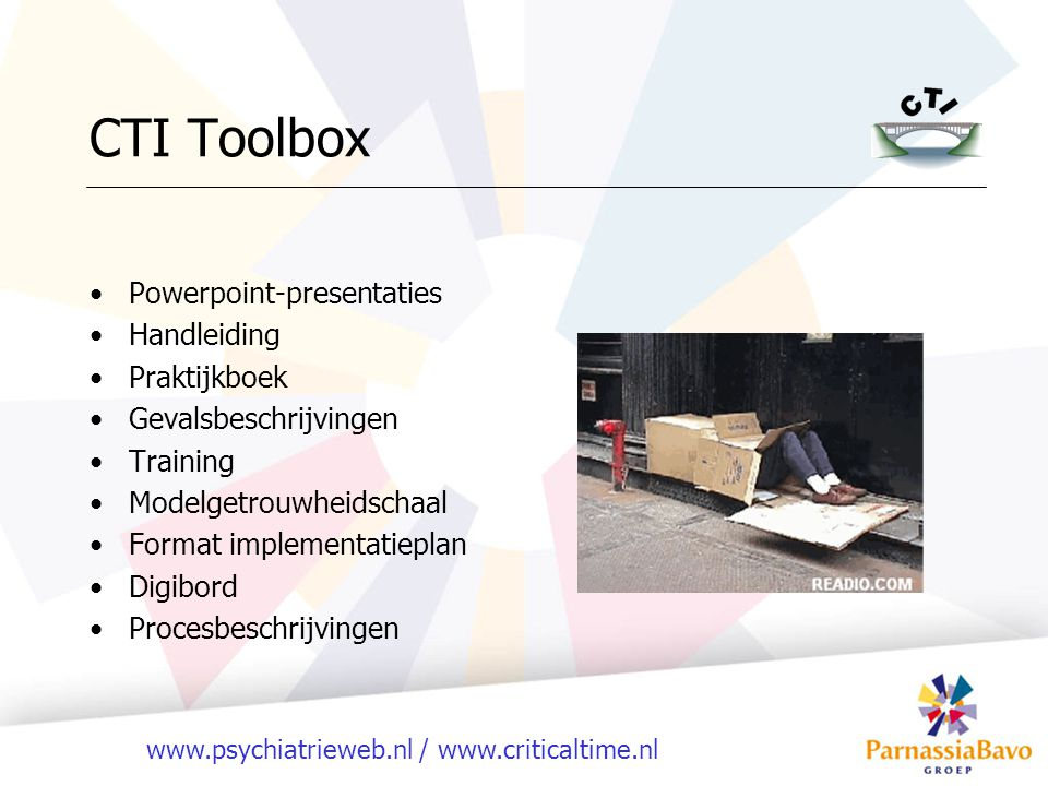 CTI Toolbox Powerpoint-presentaties Handleiding Praktijkboek