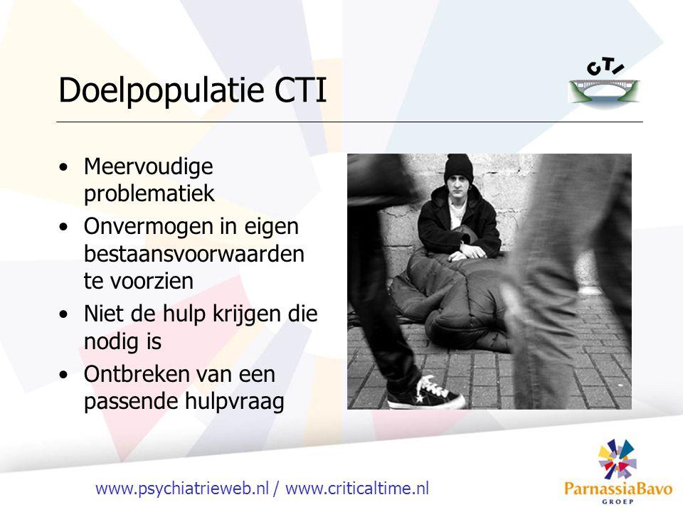 Doelpopulatie CTI Meervoudige problematiek
