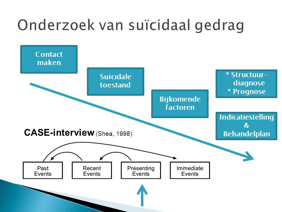 Onderzoek van suïcidaal gedrag