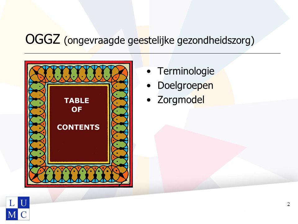 OGGZ (ongevraagde geestelijke gezondheidszorg)