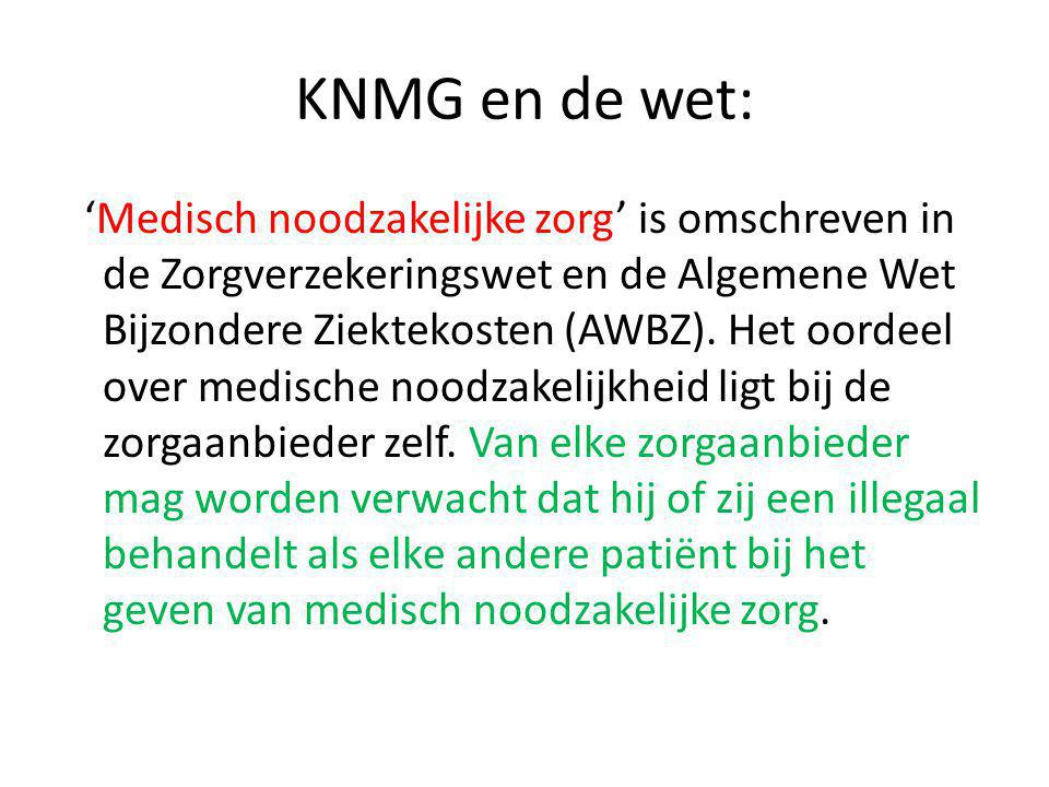 KNMG en de wet: