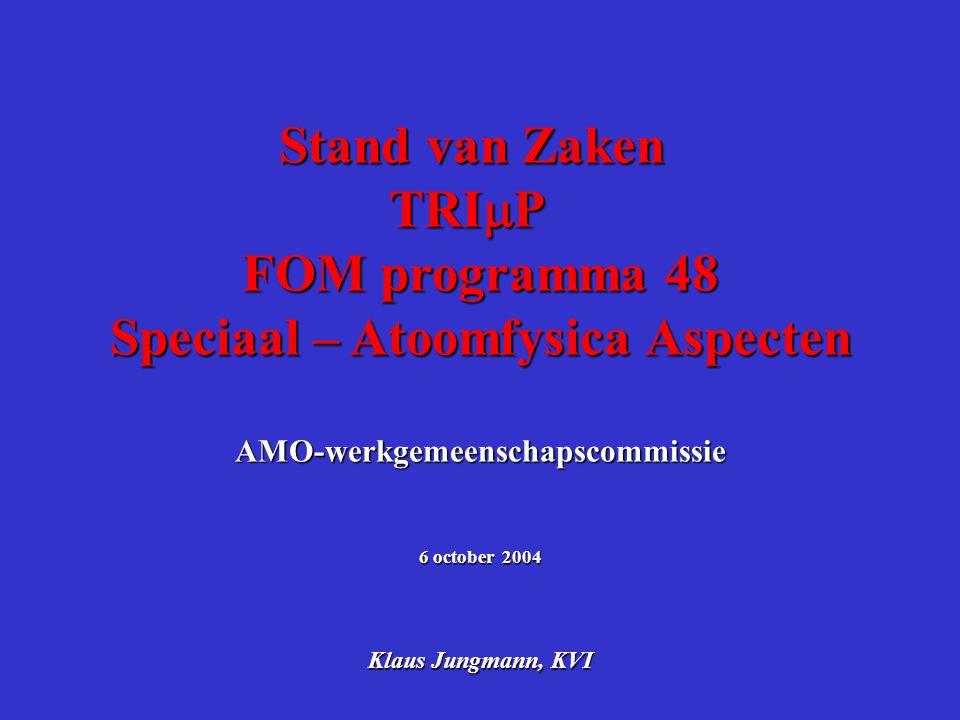 Speciaal – Atoomfysica Aspecten AMO-werkgemeenschapscommissie