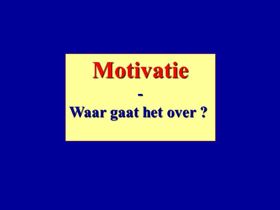 Motivatie - Waar gaat het over