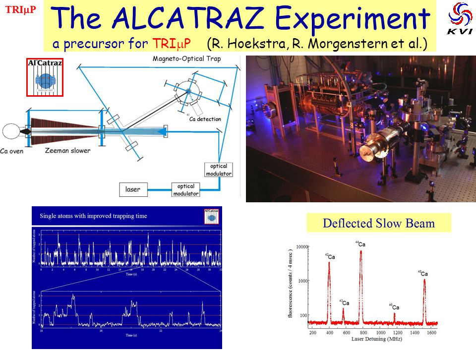 TRImP The ALCATRAZ Experiment a precursor for TRImP (R. Hoekstra, R. Morgenstern et al.) 41Ca