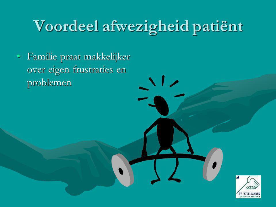 Voordeel afwezigheid patiënt