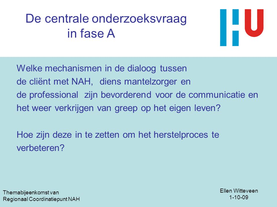 Themabijeenkomst 1oktober ppt video online download - Hoe salon te verbeteren ...