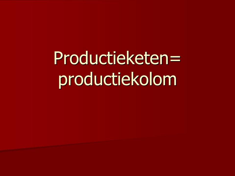 Productieketen= productiekolom
