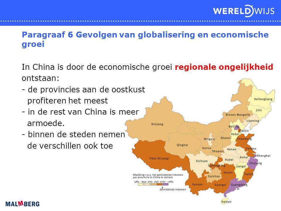 Paragraaf 6 Gevolgen van globalisering en economische groei