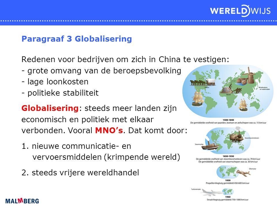 Paragraaf 3 Globalisering