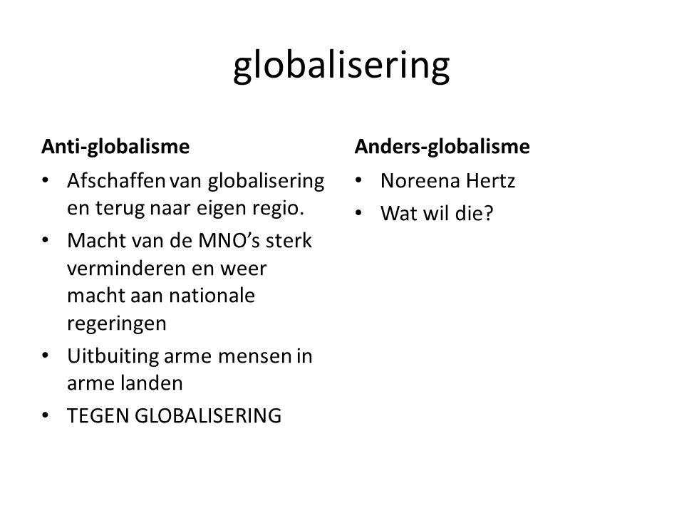globalisering Anti-globalisme Anders-globalisme