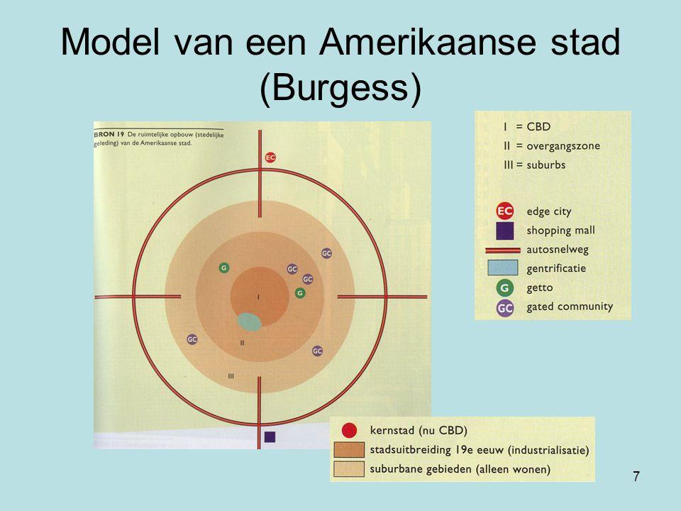 Model van een Amerikaanse stad (Burgess)