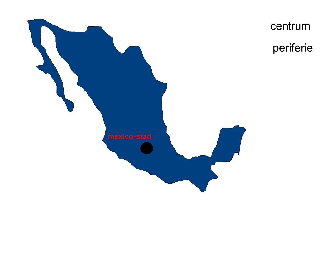 mexico-stad centrum periferie