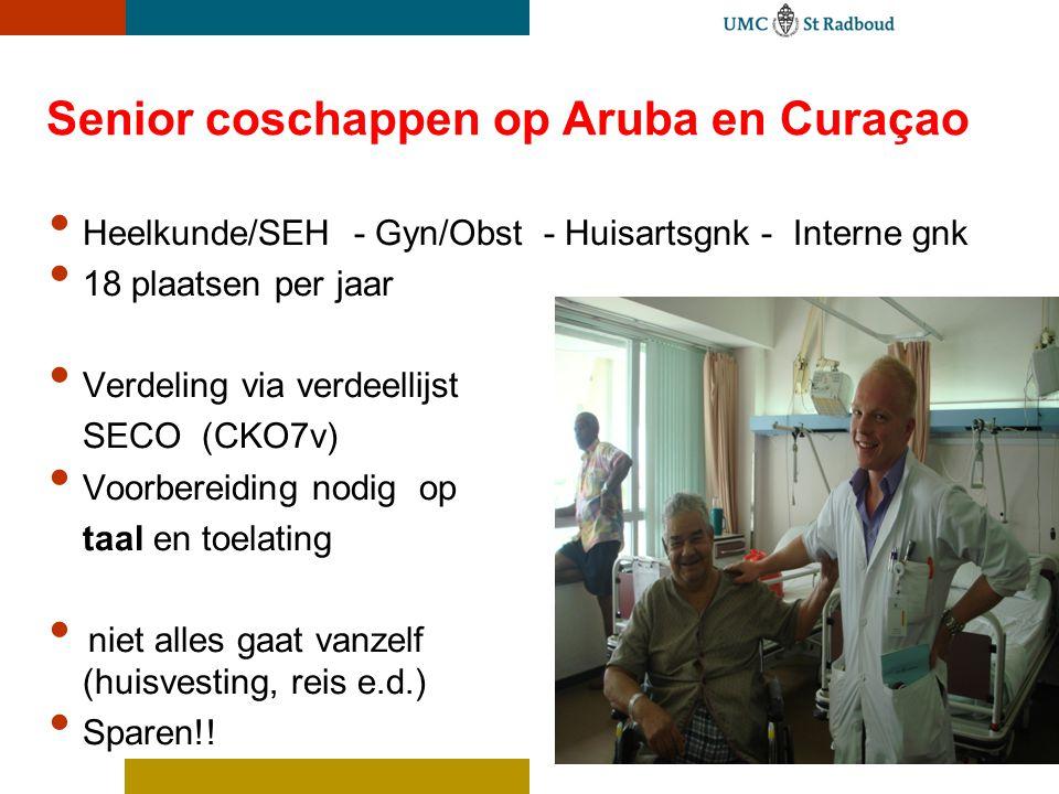 Senior coschappen op Aruba en Curaçao