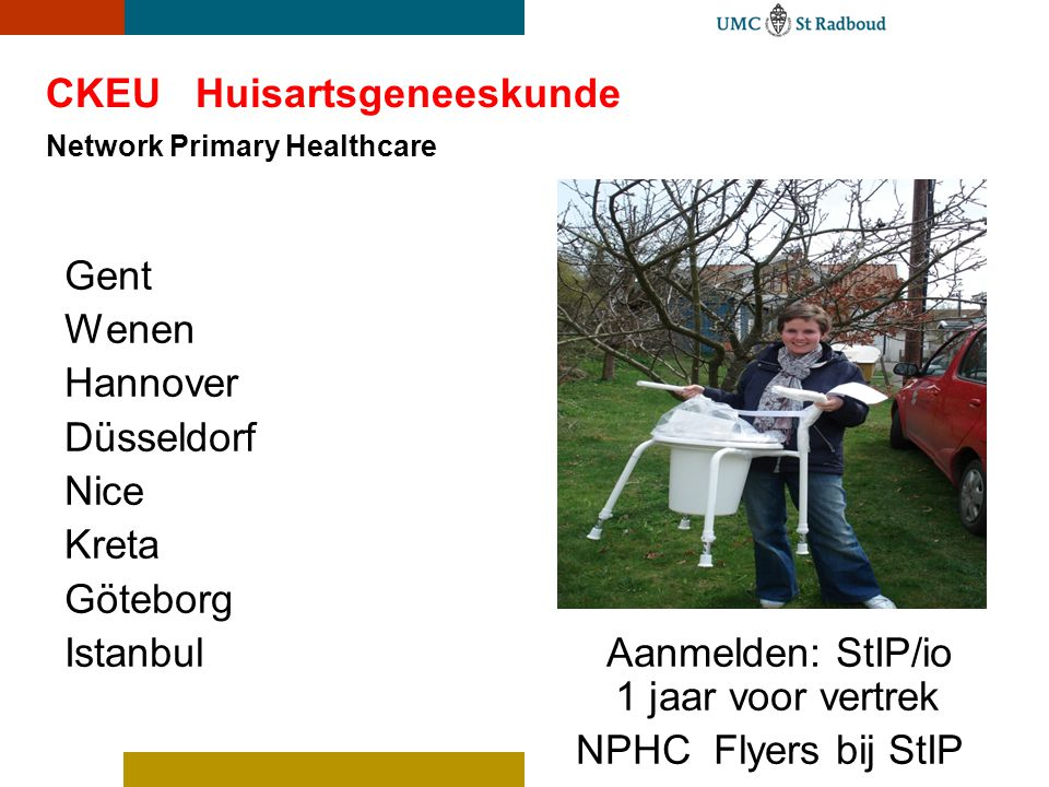 CKEU Huisartsgeneeskunde Network Primary Healthcare