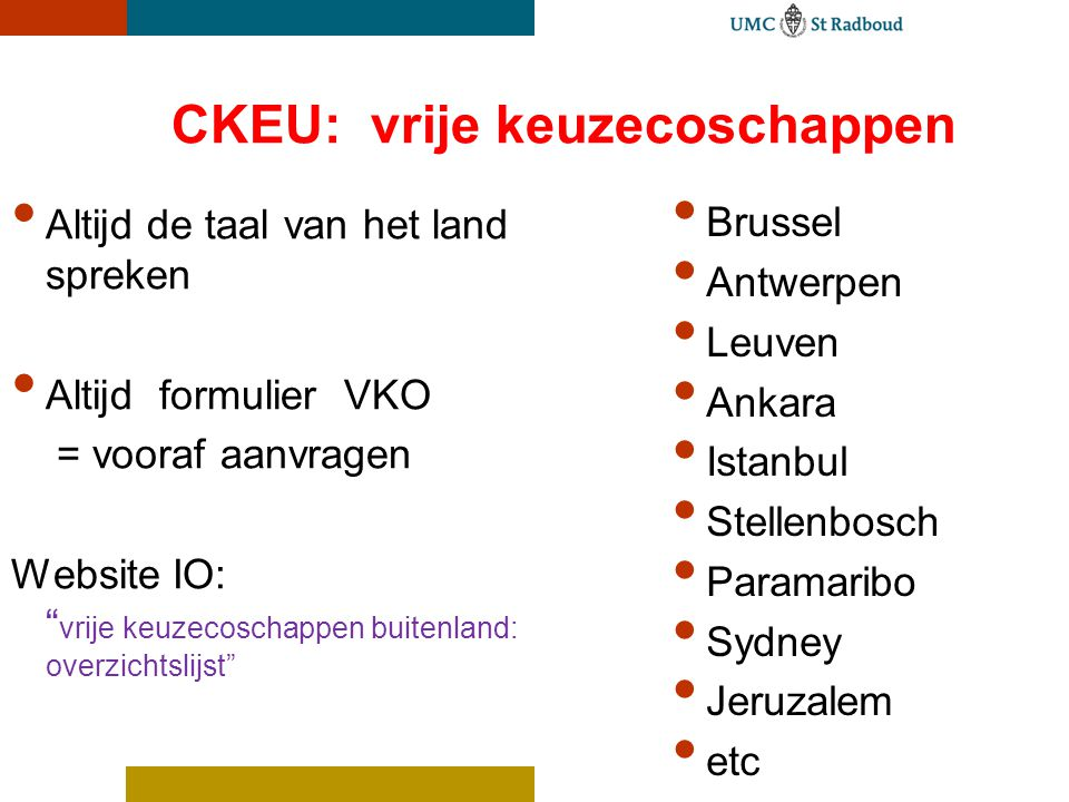 CKEU: vrije keuzecoschappen