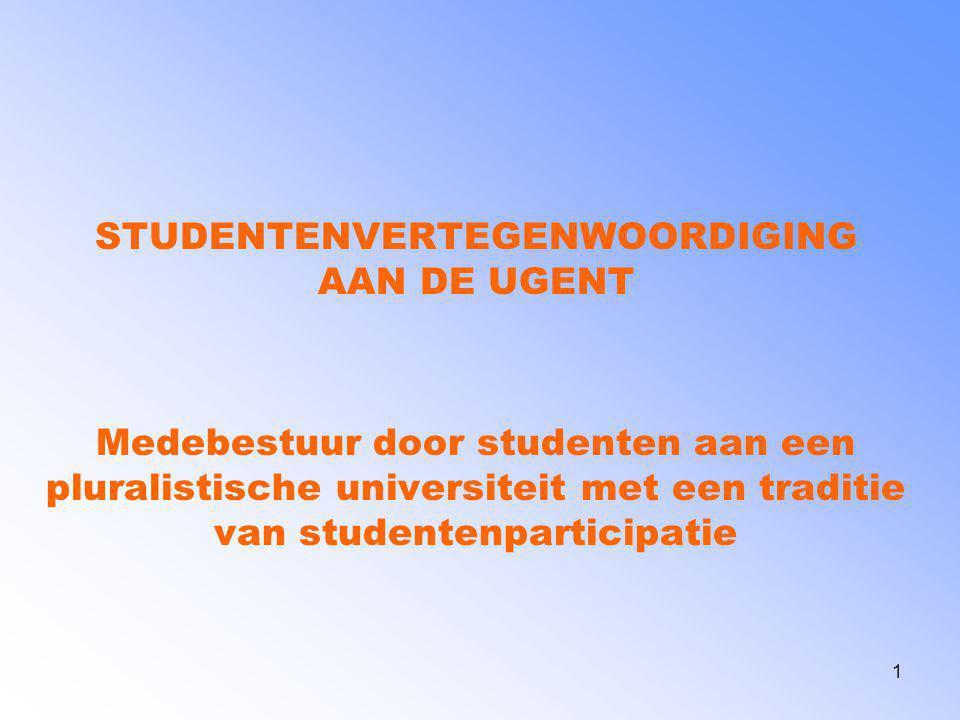 STUDENTENVERTEGENWOORDIGING AAN DE UGENT