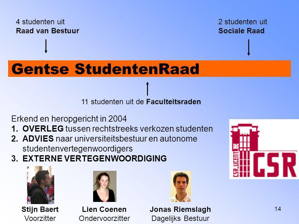 Gentse StudentenRaad Erkend en heropgericht in 2004