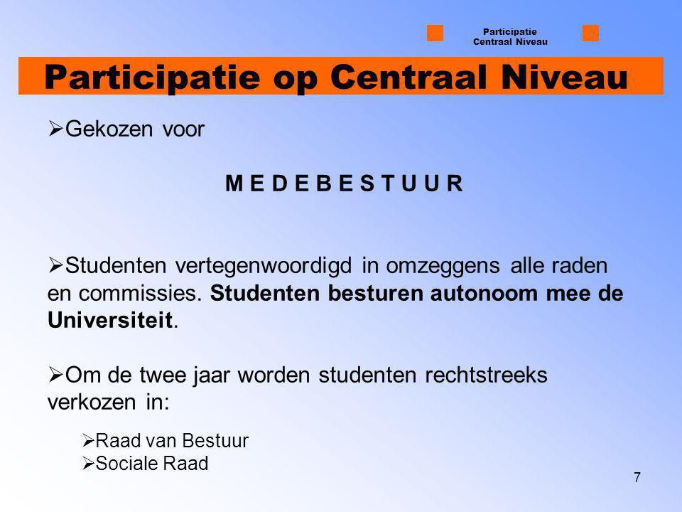 Participatie op Centraal Niveau