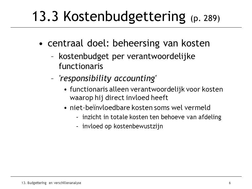 13.3 Kostenbudgettering (p. 289)
