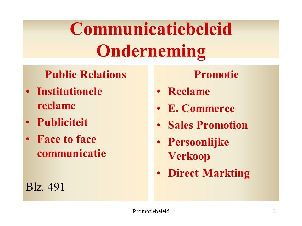 Communicatiebeleid Onderneming