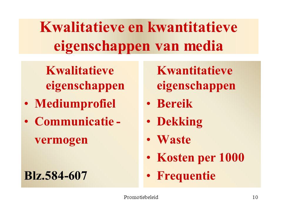 Kwalitatieve en kwantitatieve eigenschappen van media