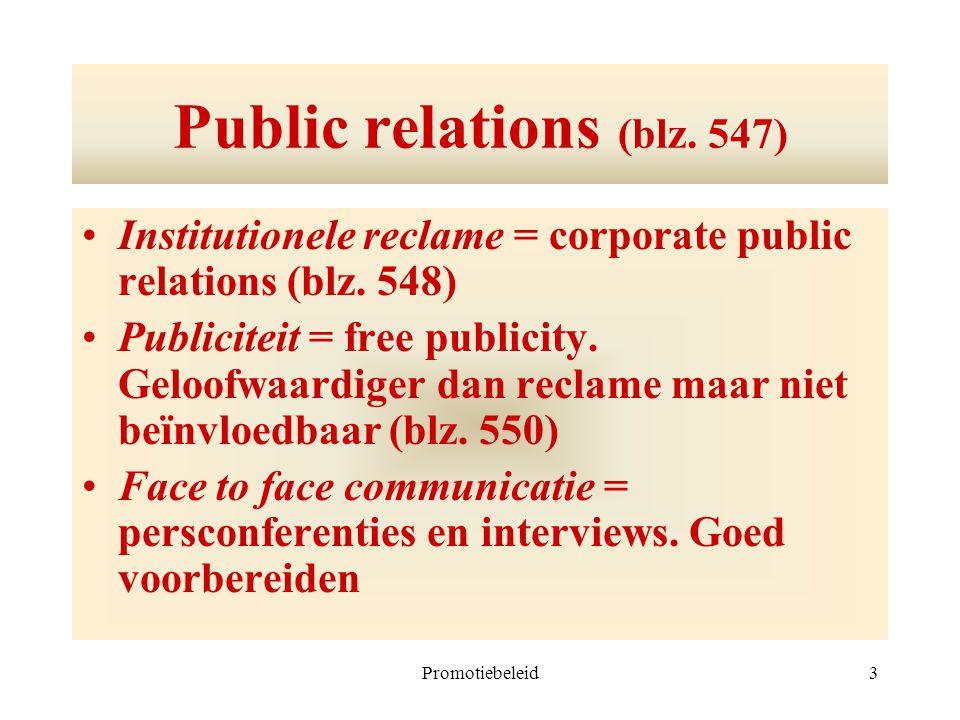 Public relations (blz. 547)