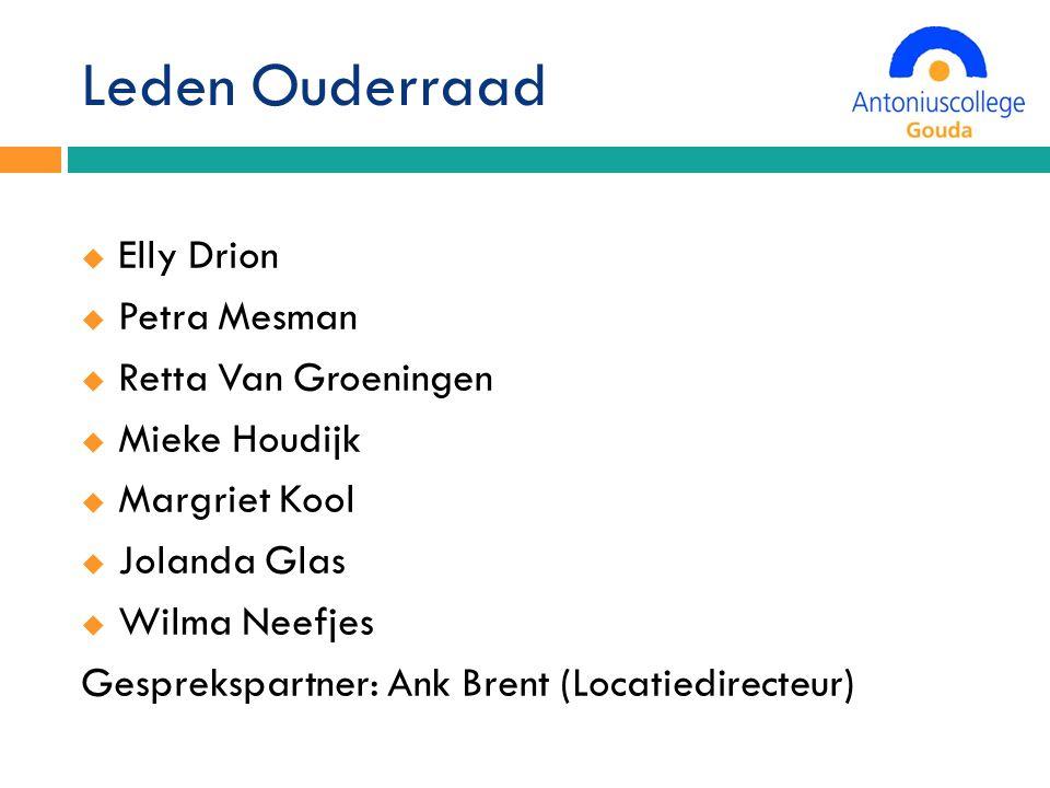 Leden Ouderraad Elly Drion Petra Mesman Retta Van Groeningen